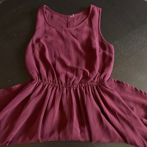 H&M Knee Length Chiffon Dress w/ Cinched Waist